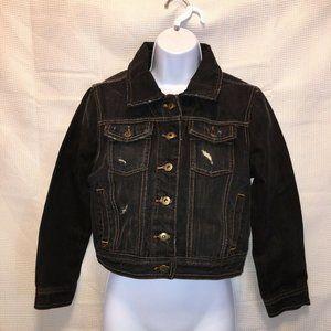 Millau womans small  Denim Jean Jacket Cropped dis